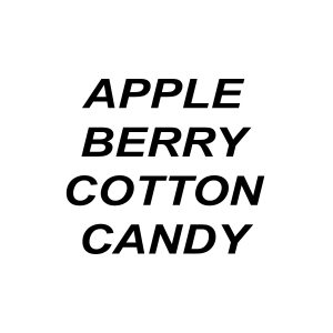 Apple Berry Cotton Candy